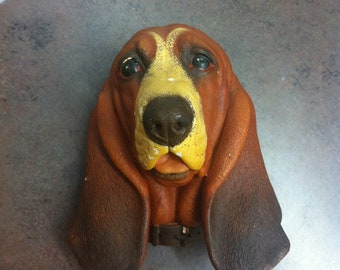 Vintage Bossons Hound - Made in England - Bossons 1968 - Chalkware Hound Dog Plaque - Memories of a Dear Friend