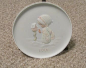 Precious Moments 1991 Christmas Blessings Collector's Plate