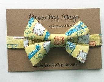 Airplane Bow Tie; Biplane Bow Tie; Yellow Bow Tie; Aviation Bow Tie; Toddler Bow Tie; Adjustable Bow Tie; Baby Bow Tie; Men Bow Tie