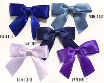 """2"""" bleu ou violet - 12/24/48 petits arcs à la main"""