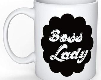 Personalized mug - typography Mug - Boss lady - funny Mug - gift idea