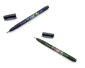 Tombow Fudenosuke Brush Pen Hard Soft Pens Japan Import