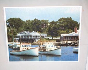 Folding Note Cards Perkins Cove, Ogunquit, Maine - set of 10 cards with envelopes