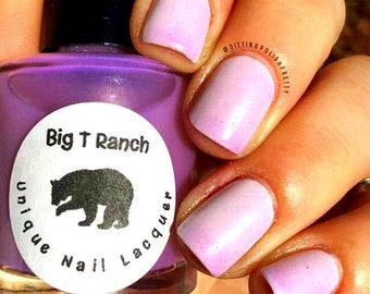 Solar Color Changing Clear - Purple Nail Polish - Full Size 15ml Bottle - Plum Puff - FREE U.S. SHIPPING