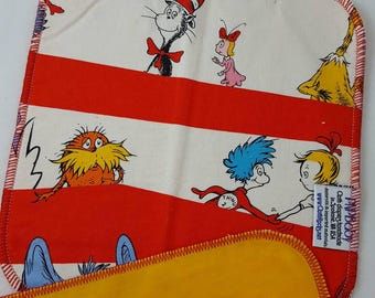 CLOTH WIPE - 3 pack - Seuss,Horton,Thing 1,Cat in the Hat,Wipes,Baby Washcloth,Reusable Wipes, Washable Towel, Baby Gift, Baby Shower Gift