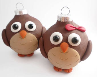 Owl Christmas Ornaments, FREE SHIPPING