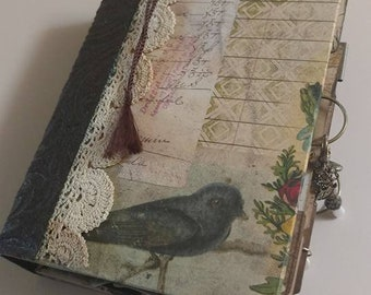Woodland Themed Journal - Backyard wildlife - Homemade Journal