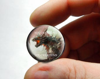 Glass Cabochon - Dragon - for Jewelry and Pendant Making