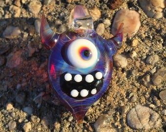 Monster Pendant - Cute Cyclops Necklace