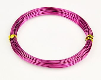 Aluminum wire 1mm pink 10m