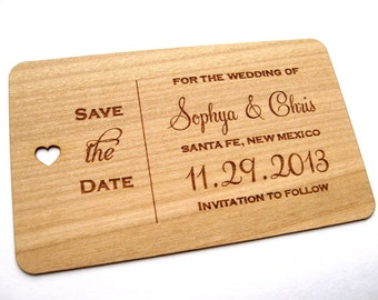 Rustic Save the Date wood card, Wooden Save the Date card, Rustic Save the Date, Wedding Save the Date, Wood Personalised