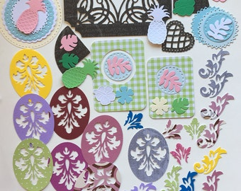 Intricate Die Cut Scrapbook Paper Pack Embellishments Kit 95 Pieces