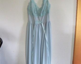 Vintage Baby Blue Slip Dress Size S