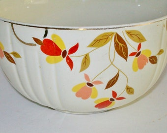 Vintage Hall Autumn Leaf Bowl Mixing Bowl Collectible 1930's