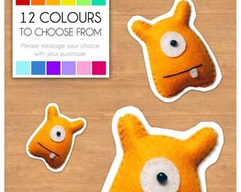 "Mini Felt Monster Plush Toy by BABUA - ""Jack"" - 12 Colors"