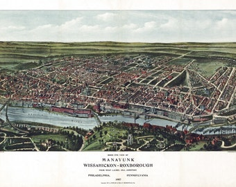 Vintage Map - Philadelphia, Pennsylvania 1907