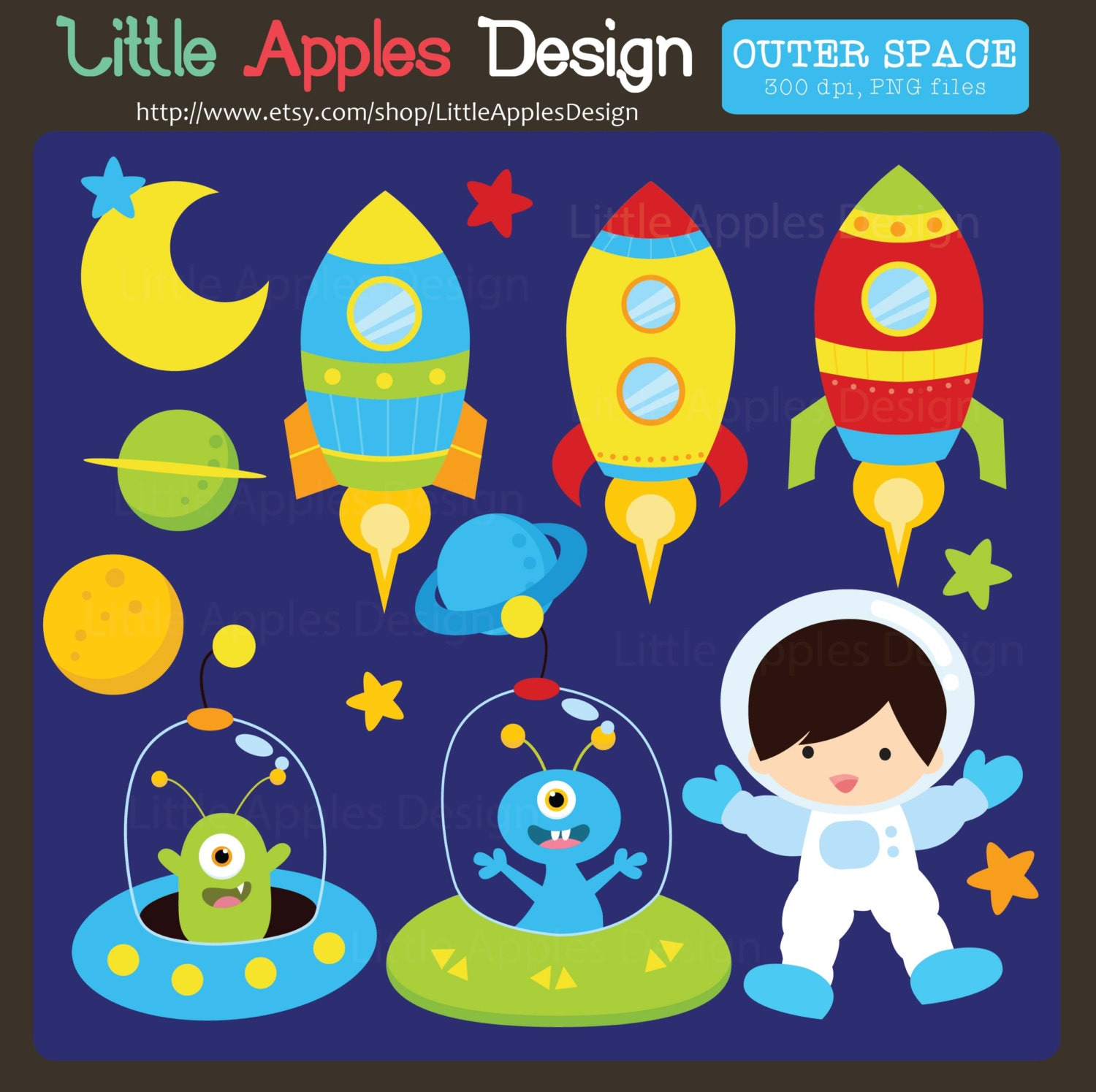 outer space clipart outer space clip art space clip art rh etsy com outer space clipart black and white cute outer space clipart