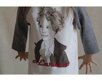 Amelia Earhart Girls Tee