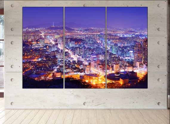 Seoul canvas wall art  Seoul canvas wall art art Seoul wall decoration Seoul large canvas wall art