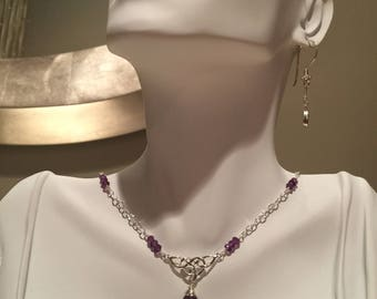 Amethyst and Sterling Silver Necklace