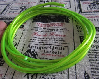 1meter of aluminum wire covered with fluorescent green plastic (5mm diameter)