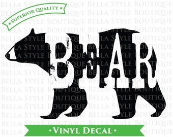 Rustic Bear VINYL DECAL