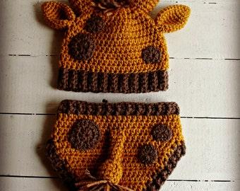 Crochet Giraffe Baby Costume, Giraffe Baby Hat, Giraffe hat, Animal Hat, Giraffe Photo Prop, Baby Shower Gift,