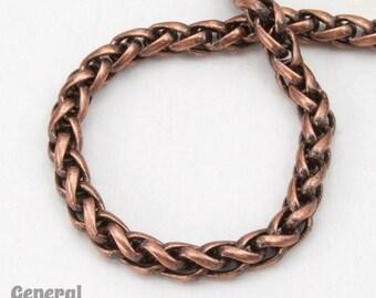 3mm Antique Copper Wheat Chain #CCD214