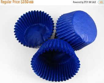 TAX SEASON Stock up 50 Pc Pretty Royal Blue Cupcake Liners 2X1.25 Inch Size Perfect for Parties