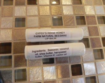 Gypsy's Ridge Honey Farm Natural Beeswax Lip Balm