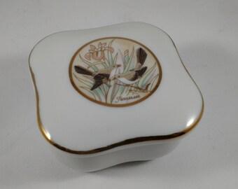 Porcelain Trinket Box, marked Lefton China 1988  06716