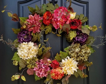 Spring through Fall Wreath, Wreaths, Door Wreaths, Summer Wreath, Spring Wreath, Summer Wreaths, Wreath for Summer, Wreath for Summer