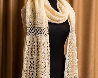 Crochet Shawl Pattern, Lace Shawl Pattern, Stole Pattern, Crochet Shawl, Scarf Pattern, Crochet Shawl, Stole Pattern, Instant Download /1019