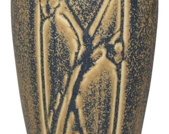 Rookwood Pottery 1925 Mottled Caramel and Blue Vase 2144