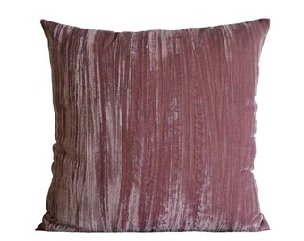 Rose pink velvet pillow-cover, 50x50 cm/ 19,7x19,7 inch, for decorative pillow