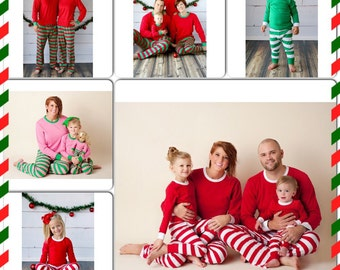 2017 Pre-Order for Christmas & Hanukkah Pajamas Matching Personalized for Baby, Toddler, Children, and Adults - Personalization Included