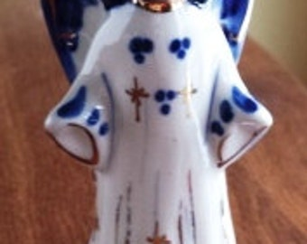 Russian Porcelain Angel from the Gzhel Region