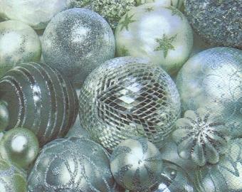 696 balls of Christmas 1 33 X 33 X 4 design paper napkin