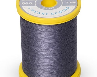 Cotton + Steel Thread by Sulky - 100% Cotton 50 wt - Charcoal Gray