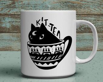 Kit Tea 11oz cat lover mug