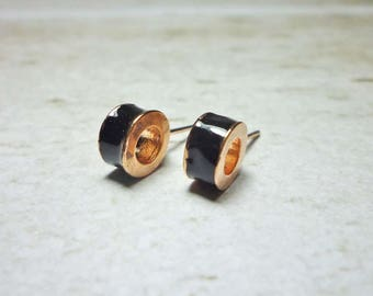 Cylinder Stud Earrings, Hollow Tube Earrings, Pipe earrings