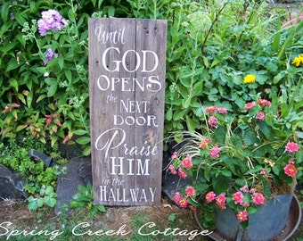 Rustic Home Decor, Signs,Praise God, Plank Sign, Wood Sign, Inspirational Sayings, Typography, Scripture Signs, Gift