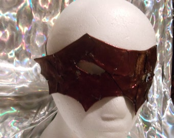 Red vinyl bat mask