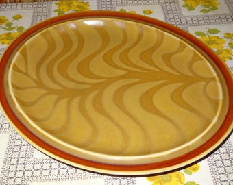 Interpace Serving Platter / Independence Stoneware / Stoneware Platter / Brown Stoneware Platter / Brown Stoneware Platter