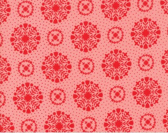 Vintage Holiday Pink Snowflakes 55166-14F