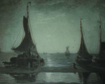 Vintage Antique Photogravure 1889 Paris Exposition