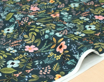 Cotton + Steel Amalfi - herb garden navy - 50cm