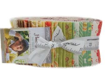 Hazel Plum cotton jelly roll by Fig Tree for Moda fabric