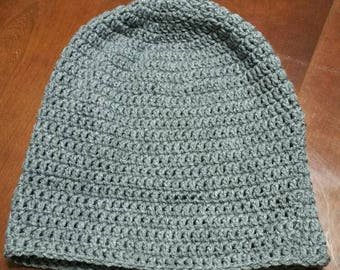 Big grey beanie.