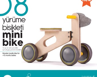 Wooden toddle bike